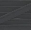 rol 25mtr - zwart katoen paspelband - piping 1cm