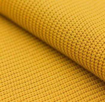geel mosterd/oker katoen gebreide stof