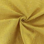 geel mosterd/oker hydrofiel met gouden studs