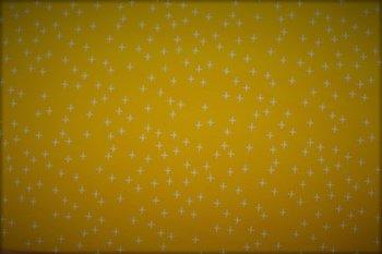 geel (oker) wit plusjes flanel