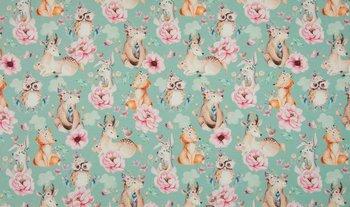 licht blauw roze terracotta hertjes vosjes beertjes konijntjes en uiltjes digitaal - tricot