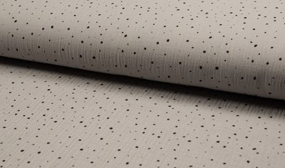 confetti lichtgrijs zwart hydrofiel