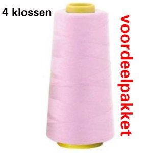 roze lockgaren - 502 - 4 x klos