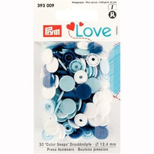 prym colorsnaps wit blauw assortie
