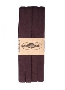 oaki doki tricot de luxe 2cm bias donkerbruin