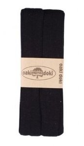 oaki doki tricot de luxe 2cm bias zwart