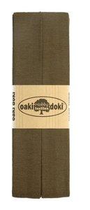 oaki doki tricot de luxe 2cm bias groen bruin