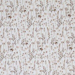 droogbloemen poplin katoen bruin Beebs