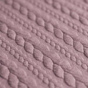 kabel gebreid oud roze