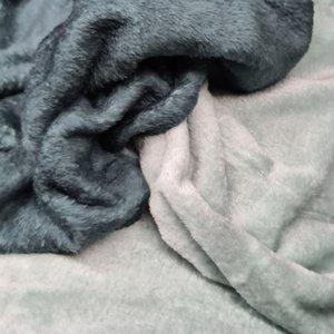 vintage groen -saffier groen dubbelzijdige wellness fleece