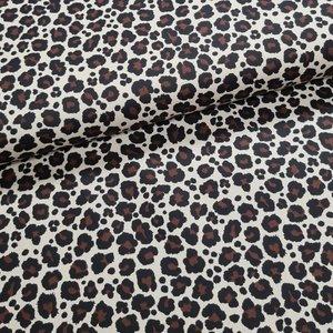 luipaard poplin katoen kiezel