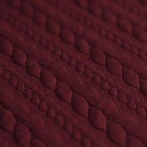 donker rood bordeau kabel jacquard tricot