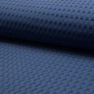 grove wafel jeans blauw