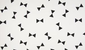 wit zwart reuzen triangel - strik - strikken