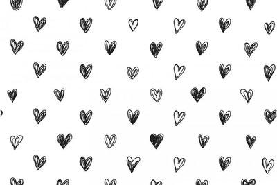 hartjes wit zwart