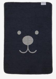 snoetje ledikant deken donkerblauw grijs