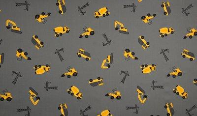 bouwvoertuigen grijs geel