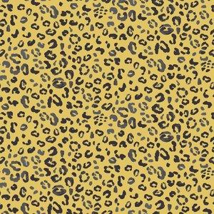 oker luipaard rondjes tricot