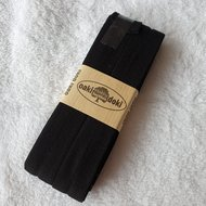 biaisband zwart 2cm tricot