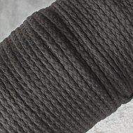 koord 5mm zwart katoen