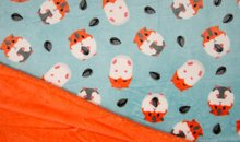 hamster met oranje achterkant knuffel fleece (3)