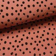 painted dots licht terracotta